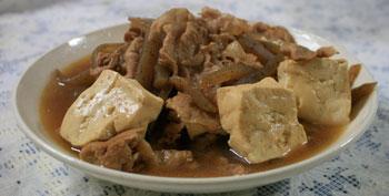 肉豆腐(肉どうふ)