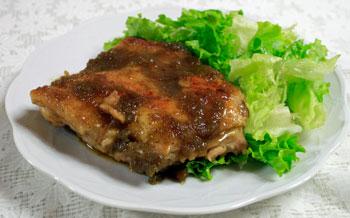 鶏もも肉の生姜(しょうが)焼き